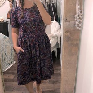 LulaRoe size 2XL beautiful blue floral dress